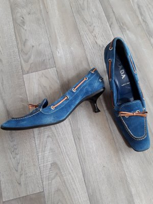 Prada Pumps, Gr. 39, Wildleder, royalblau