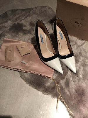 Prada Pumps wit-zwart