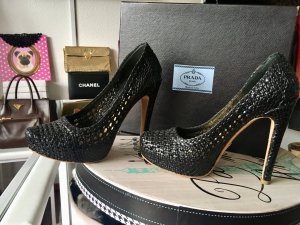 Prada Pumps High Heels Leder schwarz