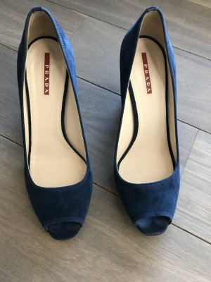 Prada Pumps in tollem blauem Wildleder, top Zustand