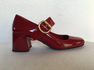 Prada, Pumps, Lackleder, dunkelrot (scarlatto), 40, neu, € 700,-