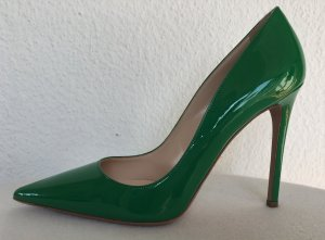 Prada High Heels forest green leather