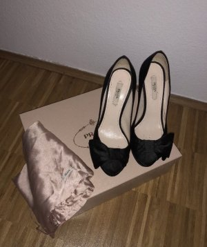Prada Peep Toe Pumps black