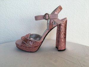 Prada, Pumps, Pailletten/Veloursleder, rosa, 39, neu, € 750,-