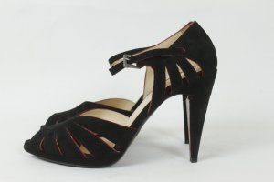 Prada Lace-up Pumps black-red leather