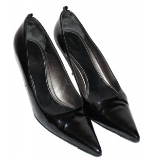 PRADA PUMPS schwarz Lackleder Gr. 40,5