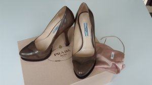 Prada High Heels bronze-colored leather