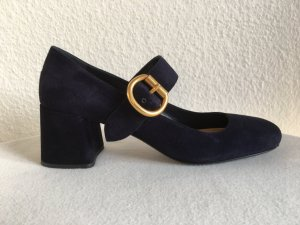 Prada, Pumps, Veloursleder, navy, 40,5, neu, € 700,-