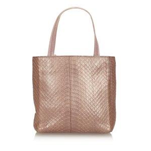 Prada Tote light pink reptile leather