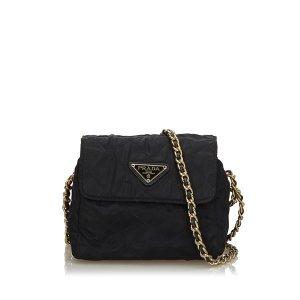 Prada Quilted Nylon Chain Crossbody Bag