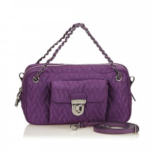 Prada Satchel purple nylon