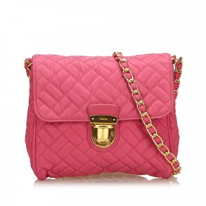 Prada Crossbody bag pink nylon