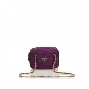 Prada Shoulder Bag purple nylon