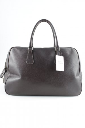 Prada Travel Bag dark brown business style
