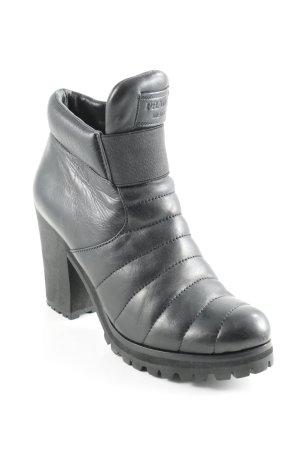 Prada Reißverschluss-Stiefeletten schwarz schlichter Stil