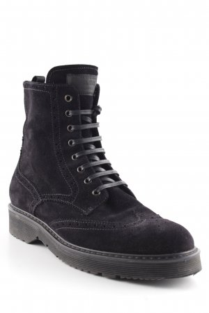 Prada Reißverschluss-Stiefeletten schwarz Urban-Look
