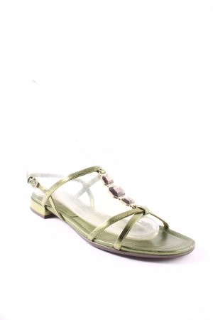 Prada Riemchen-Sandalen grün Casual-Look