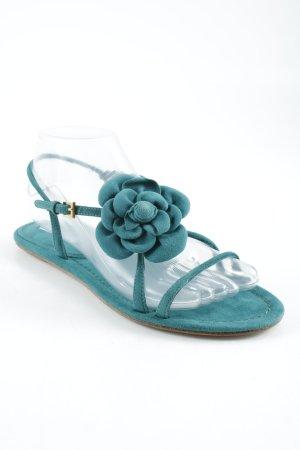 Prada Strapped Sandals cadet blue appliqué
