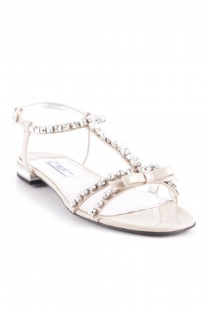 Prada Riemchen-Sandalen nude extravaganter Stil