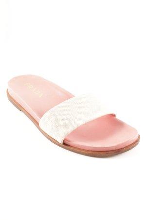 Prada Riemchen-Sandalen wollweiß-rosa Casual-Look