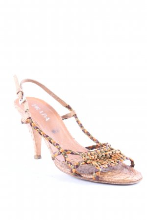 Prada Strapped High-Heeled Sandals animal pattern extravagant style
