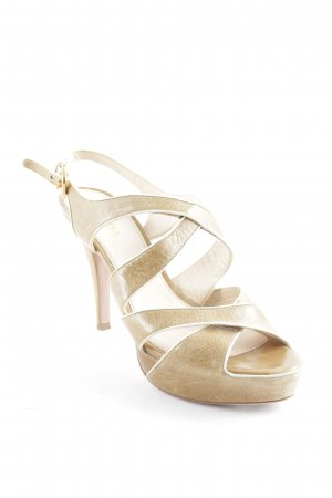 Prada Strapped High-Heeled Sandals camel-cream elegant