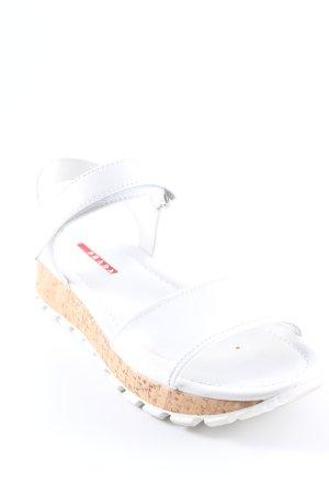 Prada Sandales à talons hauts et lanière blanc style décontracté