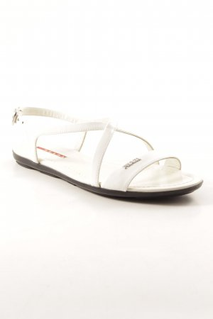 Prada Strapped High-Heeled Sandals white elegant
