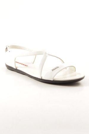 Prada Sandalias de tacón de tiras blanco elegante