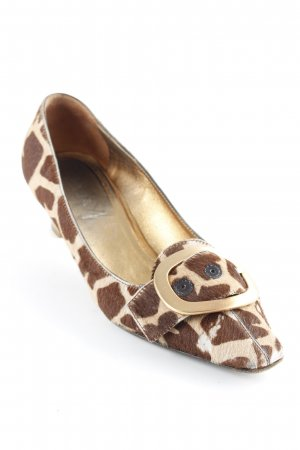 Prada Riemchenpumps Animalmuster Retro-Look