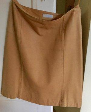 Prada Rock aus Leder, nude/beige, Gr 36,38/IT 42