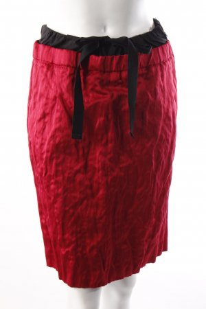 Prada skirt red and black