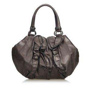 Prada Ruffled Leather Handbag