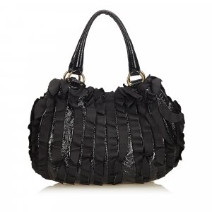 Prada Ruffled Leather Shoulder Bag