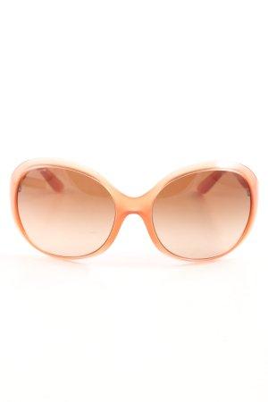 Prada runde Sonnenbrille hellorange Elegant