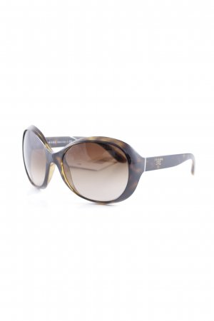 Prada Round Sunglasses cognac-coloured-light brown leopard pattern casual look