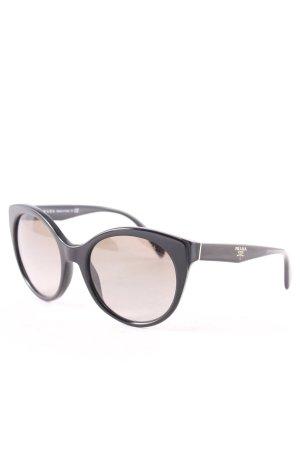 Prada runde Sonnenbrille schwarz Beach-Look