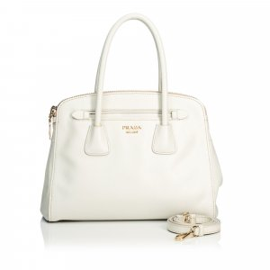 Prada Satchel white leather