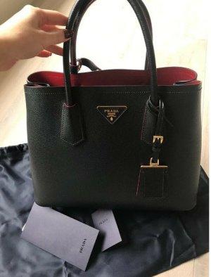 Prada Handbag black-dark red