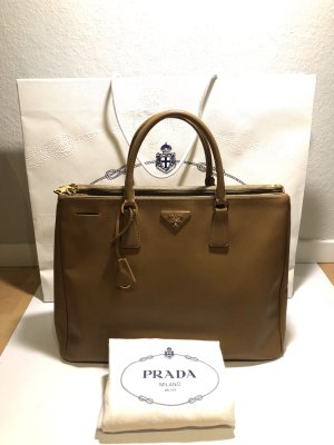 Prada Saffiano Double Zip Executive Tote Bag