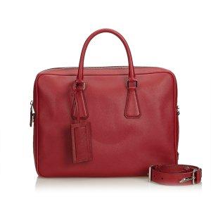 Prada Business Bag red leather