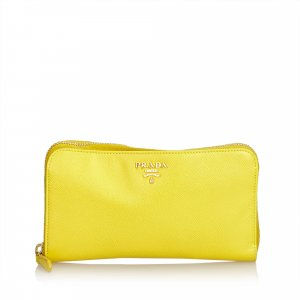 Prada Saffiano Leather Continental Long Wallet