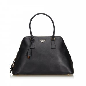 Prada Saffiano Leather Dome Handbag