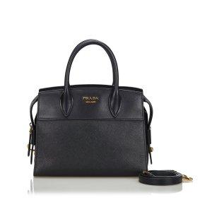 Prada Saffiano Leather Esplanade Tote Bag