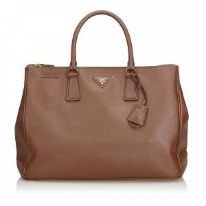 Prada Handbag dark brown leather