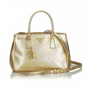 Prada Satchel gold-colored leather