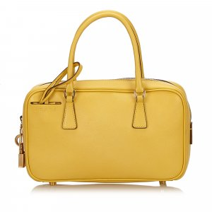 Prada Handbag yellow leather