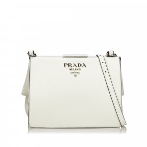 Prada Saffiano Leather Light Frame Crossbody Bag