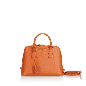 Prada Satchel orange leather