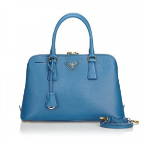 Prada Saffiano Leather Lux Promenade Satchel
